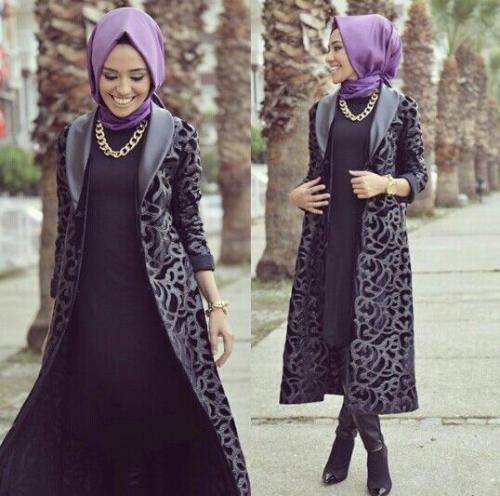 ملابس شتوية للمحجبات 2016 - هولو