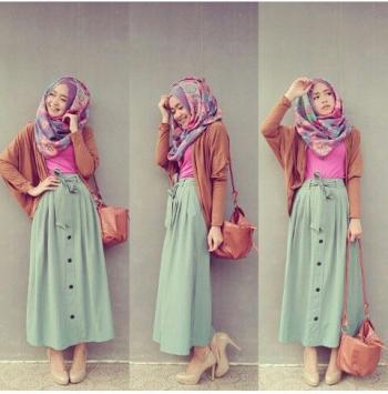 2016 Fashion style hijab rok