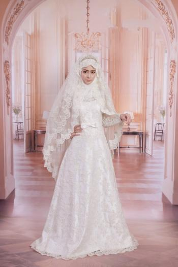 baeeba3a3 احدث فساتين زفاف للمحجبات - هولو - كل مفيد