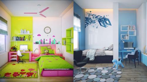 افكار ابداعية لتصميم غرف نوم اطفال   هولو   كل مفيد