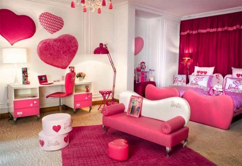 : دهان غرف نوم بنات احمر : غرف