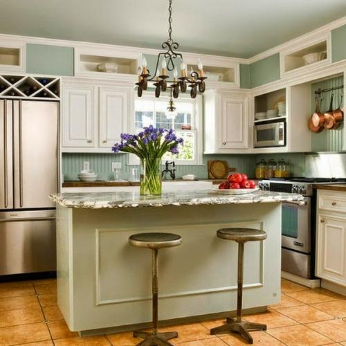100 Awesome Kitchen Island Design Ideas: مطابخ صغيرة المساحة تنافس اكبر المطابخ بالصور