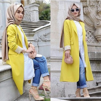 492847b60976a اجمل ملابس محجبات تركية بالصور - هولو - كل مفيد